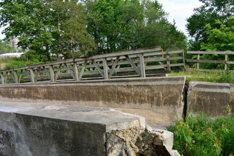 Collapsed Nettle Creek Aqueduct